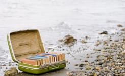 Koffer met boeken