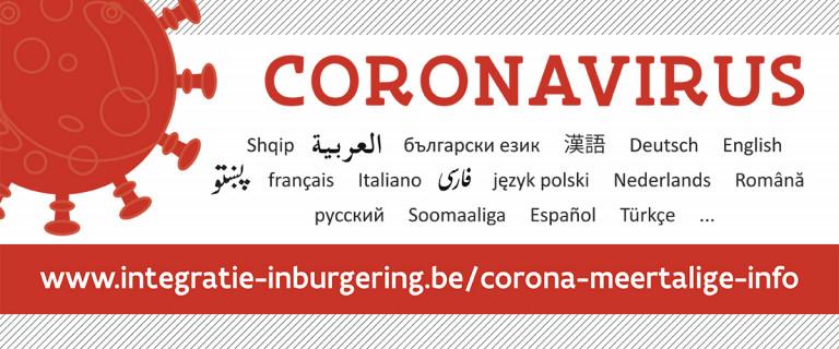 coronavirus in verschillende talen